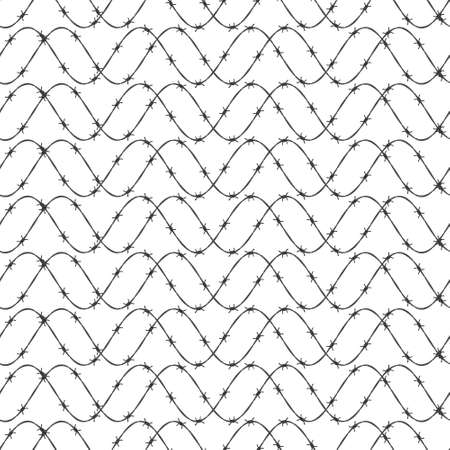 gaol: Seamless pattern of the barbed wire wave background