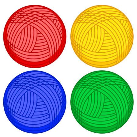 Illustration of the skein balls set