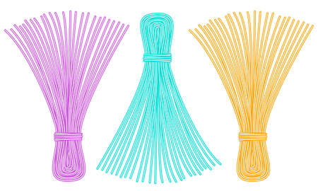 whisk broom: Illustration of the thread tassel set