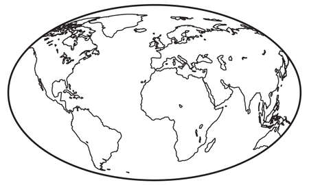 elliptic: Abstract contour elliptic globe. Elements of this image furnished by NASA. Source of map: http:visibleearth.nasa.govview.php?id=74518