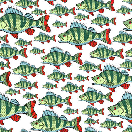 limnetic: A Seamless pattern of the bass fish group.