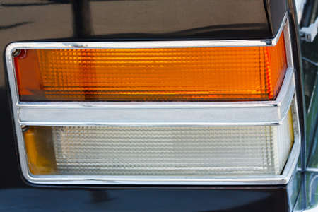 Sidelight of the vintage car closeup