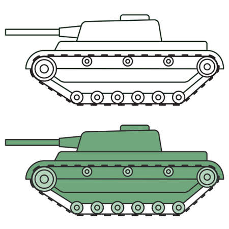 Illustration of the cartoon tank icons Ilustrace