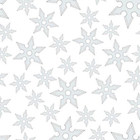 Seamless pattern of the random cold steel shurikens