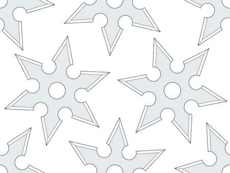 Seamless pattern of the cold steel shurikens Illustration