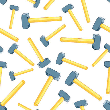 Seamless pattern of the random sledgehammers Illustration