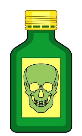 Abstract bottle of poison illustration Illustration