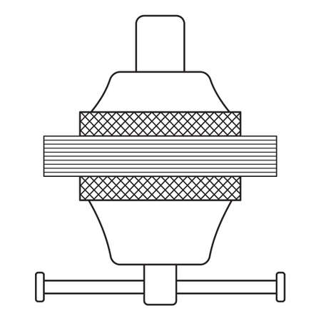 ilustración del icono de herramienta de la abrazadera