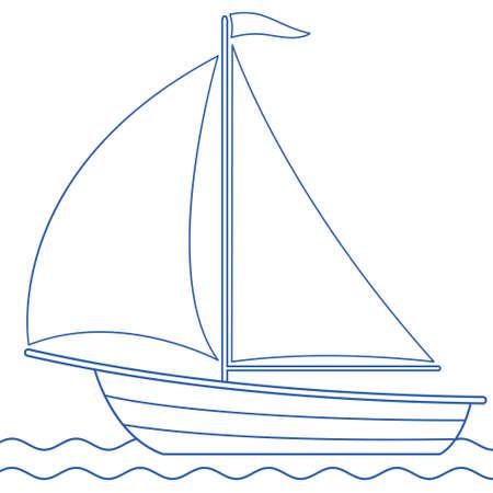 Illustration of the sailing boat icon Illustration