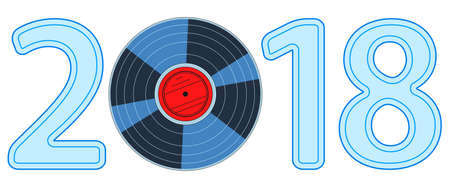 Illustration of the 2018 gramophone record disk lettering