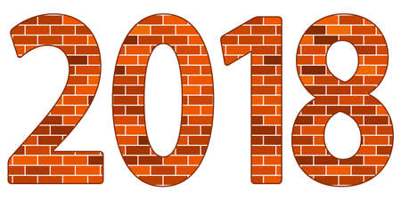 Illustration of the 2018 brick wall lettering