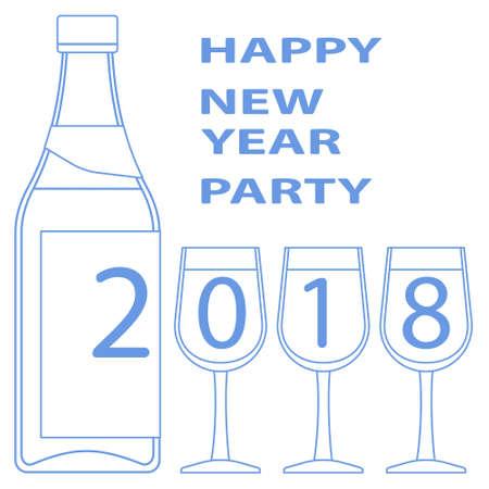Illustration of the 2018 drink lettering