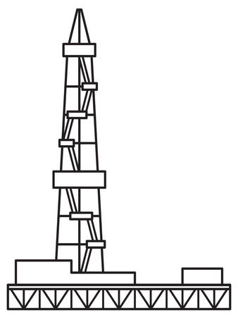 Illustration of the oil derrick icon