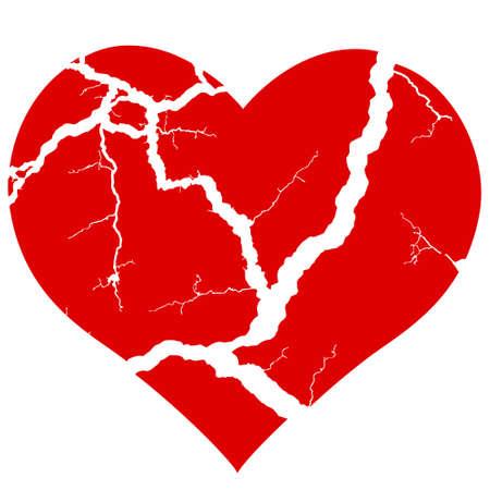 Illustration Of The Concept Broken Heart Symbol Royalty Free