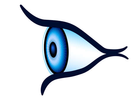 Illustration of the abstract eye side view