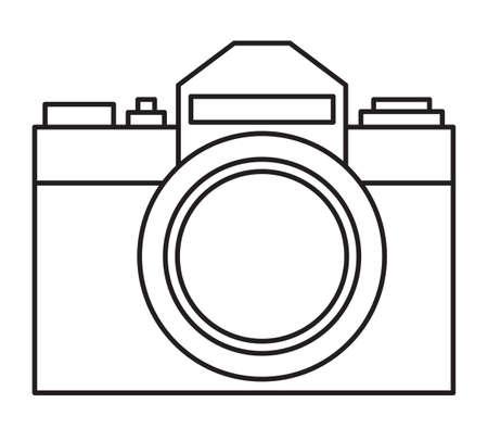 Illustrazione della macchina fotografica minimalista