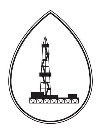 Illustration of the concept oil derrick icon.