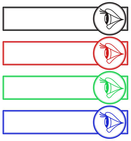 Illustration of the eye side view banner set.