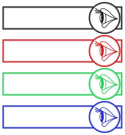 Illustration of the eye side view banner set.
