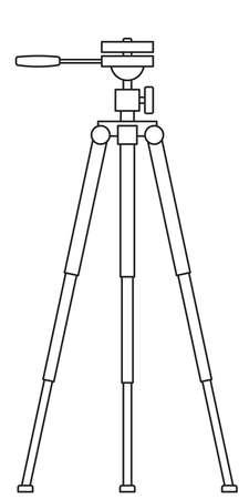 Illustration of the tripod stand  イラスト・ベクター素材