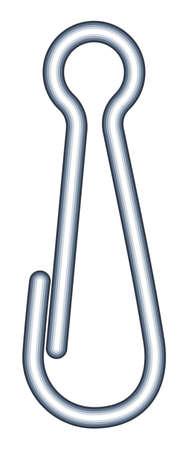 Illustration of the safety hook isolated on white background.