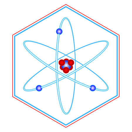 Illustration of the abstract atom symbol