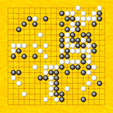 Playing position of the Go game illustration