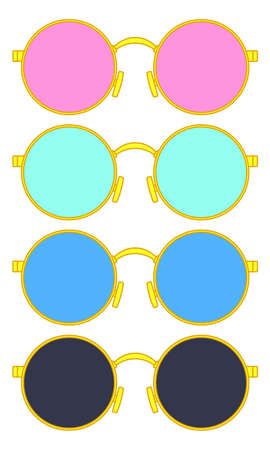 Illustration of the sunglasses set