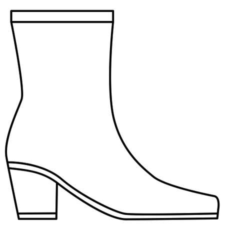 Illustration of a simple contour boot