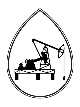 Illustration of the concept oil pumpjack derrick icon Illustration