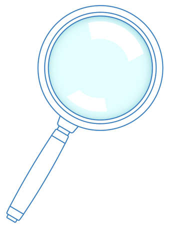 Illustration of the magnifying glass tool