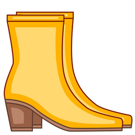Illustration of the boot pair Ilustrace