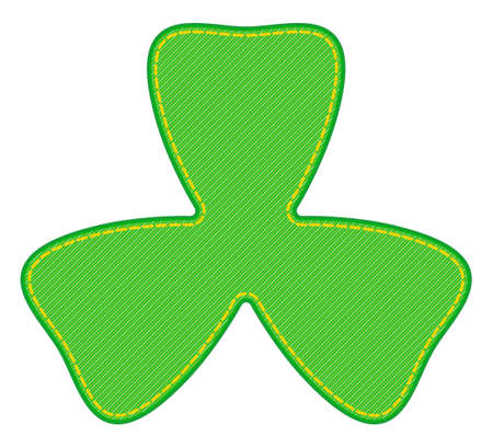 Illustration of the abstract denim Saint Patrick's Day trefoil symbol Vettoriali
