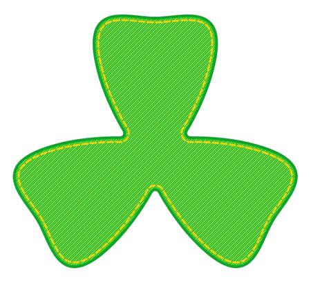 Illustration of the abstract denim Saint Patricks Day trefoil symbol