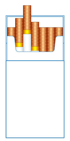 Illustration of the cigarette pack template