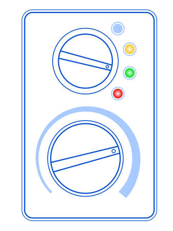 Illustration of the abstract control panel
