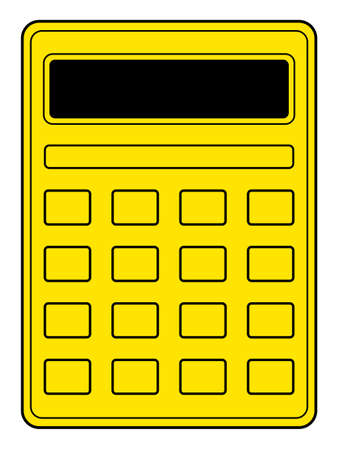 Illustration of the abstract simple calculator icon