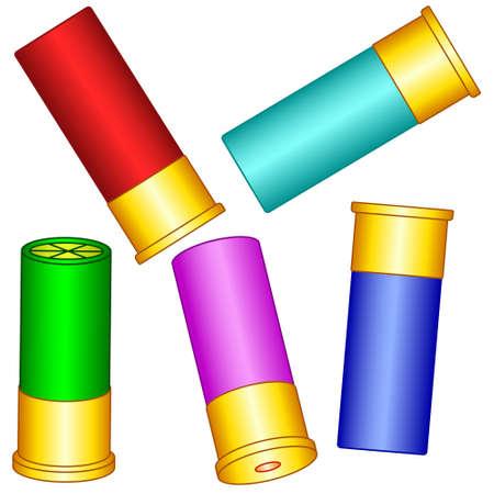 Illustration of the shotgun shell set Stock fotó - 96741056