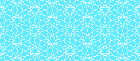 Abstract seamless pattern of the hexagonal ornaments