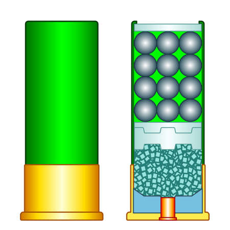 Illustration of the shotgun shell charge