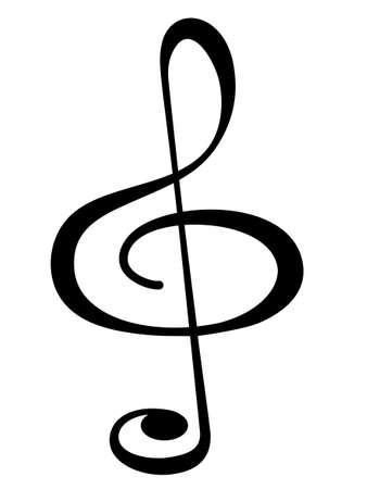 Illustration of the treble clef symbol Illustration