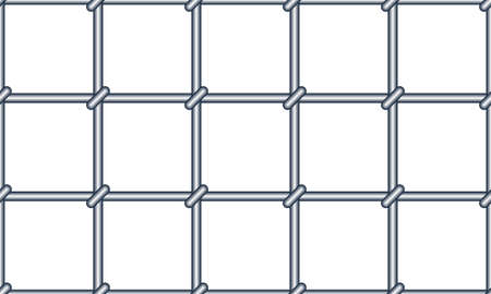 Seamless pattern of the abstract metal grating