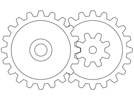 Illustration of the contour gear wheels