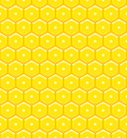 Seamless pattern of the abstract honeycomb cell elements Ilustrace