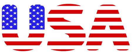 Illustration of the USA flag on abbreviation