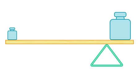 Illustration of the simple lever balance Illustration