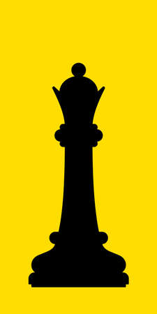 Illustration of the abstract black chess queen silhouette Stock Illustratie