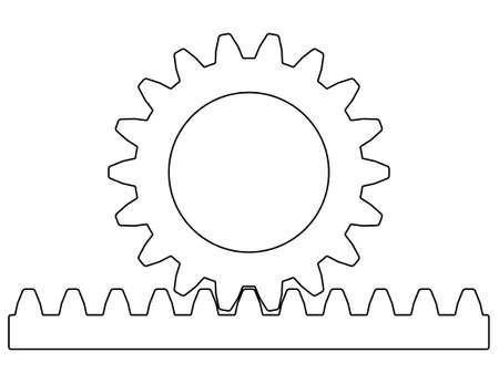 Illustratie van de tandheugeloverbrenging