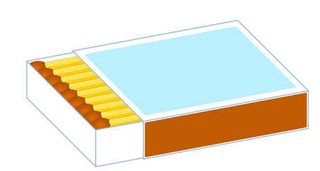 Illustration of the axonometric matches box