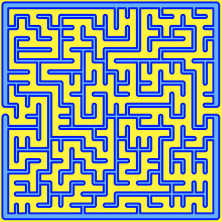 Illustration of the abstract maze design Vetores